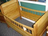 antique beech/pine bed in Ramstein, Germany
