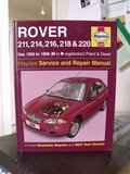 Rover 211,214,216,218 & 220 Haynes Manuel in Lakenheath, UK