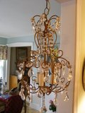 vintage paris CHIC chandelier with prisms in Bolingbrook, Illinois