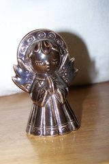 Bronze Painted Glass Angel in Kingwood, Texas