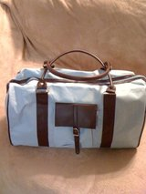 REDUCED!NEW!Baby blue and brown overnight bag in Fort Polk, Louisiana