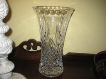 LARGE LEADED GLASS VASE~7.5 POUNDS! in Plainfield, Illinois