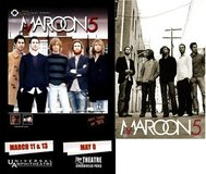 2 Maroon 5 Band / Movie Theatre Poster Lot in Kingwood, Texas